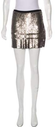 Theory Sequin Mini Skirt