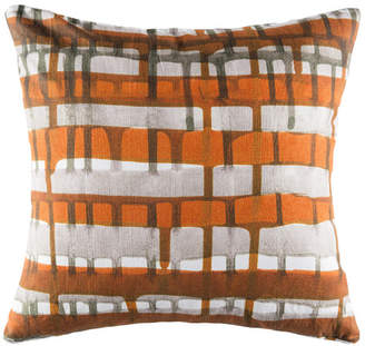 Kas Webster Rust Square Cushion