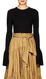 Proenza Schouler Women's Rib-Knit Silk-Blend Sweater - Black