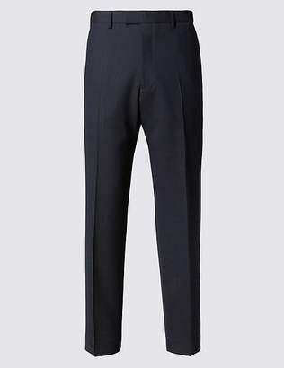 Marks and Spencer Big & Tall Navy Striped Regular Fit Trousers