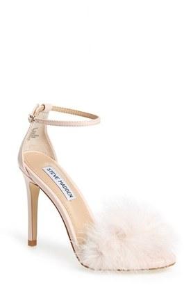 Steve Madden 'Scarlett' Marabou Evening Sandal $89.95 thestylecure.com