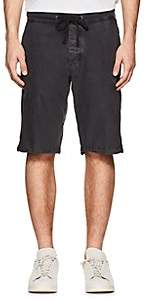James Perse MEN'S WASHED COTTON POPLIN SURPLUS SHORTS-DARK GRAY SIZE 0