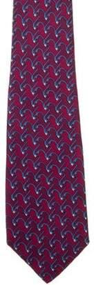 Hermà ̈s Horse Print Silk Tie blue Hermà ̈s Horse Print Silk Tie