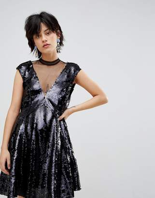 Free People Dance Till Dawn Ombre Sequined Dress