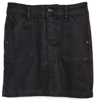 Scotch R'Belle Girls' Sparkle Side-Stripe Denim Skirt - Little Kid, Big Kid