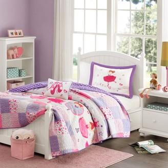 Home Essence Kids Ballet Shoes Coverlet Bedding Set