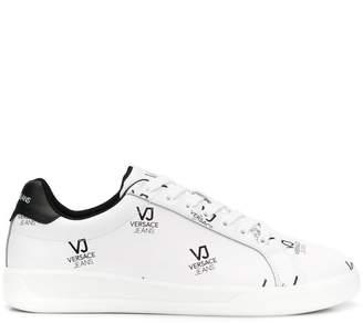 Versace logo print low-top sneakers
