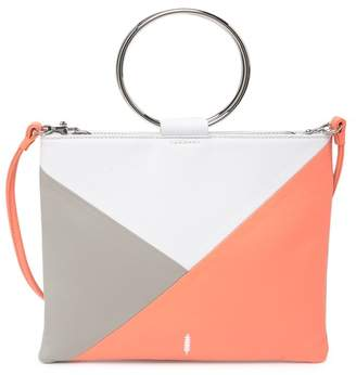 THACKER Le Pouch Colorblock Leather Crossbody Bag