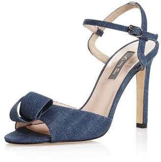 Sarah Jessica Parker Women's Ferry Denim High-Heel Ankle Strap Sandals - 100% Exclusive