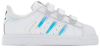 adidas Superstar CF Leather Touch 'n' Close Trainers, Sizes 21-27