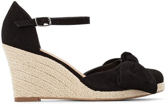 f08fccb9111fef La Redoute COLLECTIONS Wedge Heel Bow Detail Espadrilles