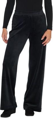 Isaac Mizrahi Live! Regular SOHO Plushed Velour Pull-On Wide Leg Pants