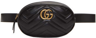 Gucci Black GG Marmont 2.0 Belt Pouch