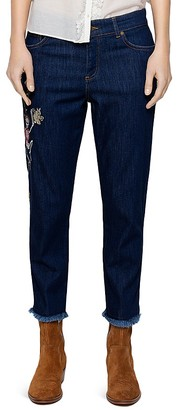 Zadig & Voltaire Boyfit Denim Deluxe Jeans in Blue $288 thestylecure.com