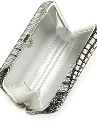 Judith Leiber Couture Penn Station Rectangle Clutch Bag, Silver