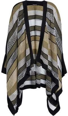 Balmain Metallic Pointelle-Knit Cardigan
