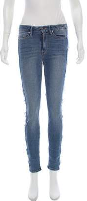 Good American Grommet-Accented Mid-Rise Jeans w/ Tags