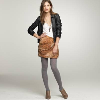 Crinkled silk tempest skirt