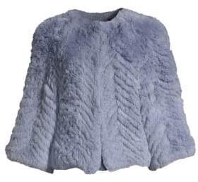 Jagger H Brand Chevron Rabbit Fur Jacket