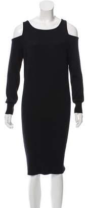Just Cavalli Cold-Shoulder Midi Dress w/ Tags