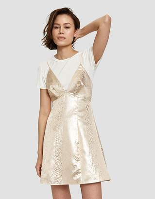 Chloé Farrow Dress in Champagne