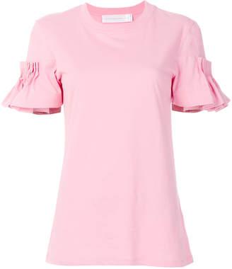 Victoria Beckham Victoria ruffled sleeves T-shirt