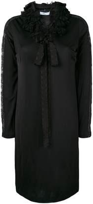 Blumarine frill neckline shift dress