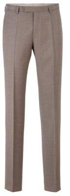 BOSS Regular-fit trousers in melange virgin wool
