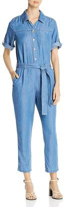 DKNY Chambray Short-Sleeve Jumpsuit
