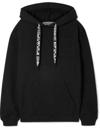 Proenza Schouler Pswl Oversized Cotton-jersey Hoodie - Black