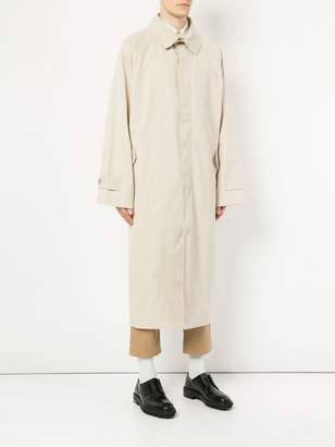 Hed Mayner long single breasted coat