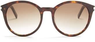 Saint Laurent Classic round-frame acetate sunglasses