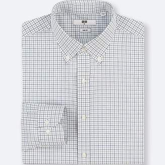 Uniqlo Men's Easy Care Checked Stretch Slim-fit Long-sleeve Shirt