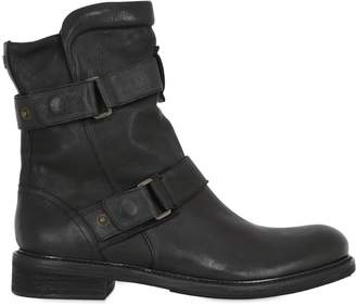 Wild One Zip-Up Leather Biker Boots