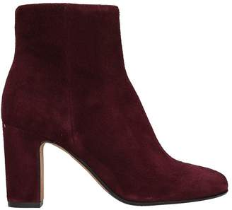 Julie Dee Bordeaux Suede Leather Boots