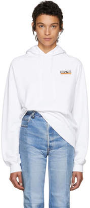 Vetements White 100% Pro Normal Fitted Hoodie