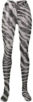Dolce & Gabbana zebra print tights