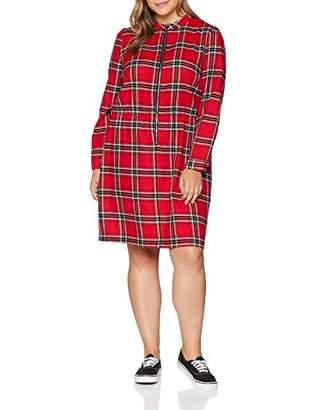 9e5d9c733abca Studio Untold Women s Plus Size Red Check Shirt Dress 7962 90-48