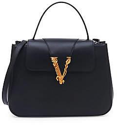 Versace Women's Virtus Top Handle Leather Bag