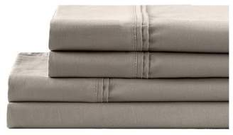 """California Design Den 700 Thread Count 4-Piece Poly Cotton Bed Sheets Set, Fitted Sheets with Deep Pocket fits 18"""" Mattress, Taupe Full Size Sheets"""