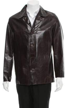 Rogue Notch-Lapel Leather Jacket
