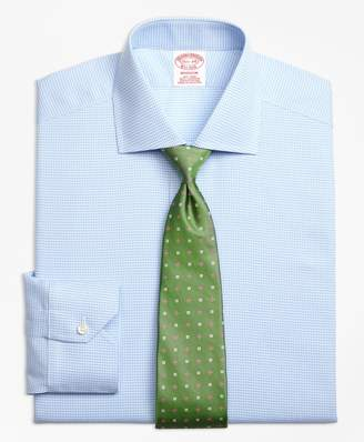 Brooks Brothers Madison Classic-Fit Dress Shirt, Non-Iron Royal Oxford Houndstooth