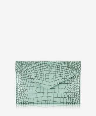 GiGi New York Large Envelope Crocodile Embossed Leather