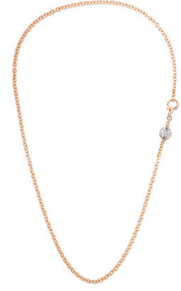 Pomellato Sabbia 18-karat Rose Gold Diamond Necklace