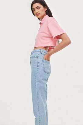 Topshop Petite Bleach Mom Jeans