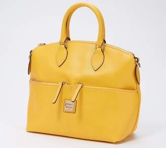 Dooney & Bourke Saffiano Leather Double Zip Pocket Satchel
