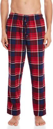 Nautica Red Plaid Cozy Fleece Pajama Pants