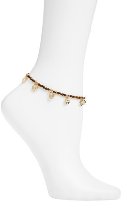 Women's Ettika Tiger's Eye Beaded Charm Anklet $40 thestylecure.com