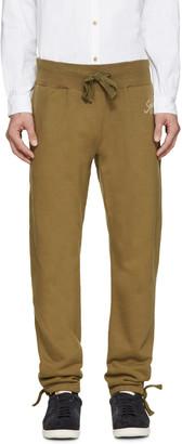 Visvim Green Vintage Logo Lounge Pants $680 thestylecure.com
