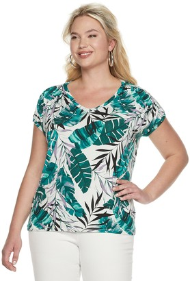 f1754024a9e056 JLO by Jennifer Lopez Plus Size Tops - ShopStyle